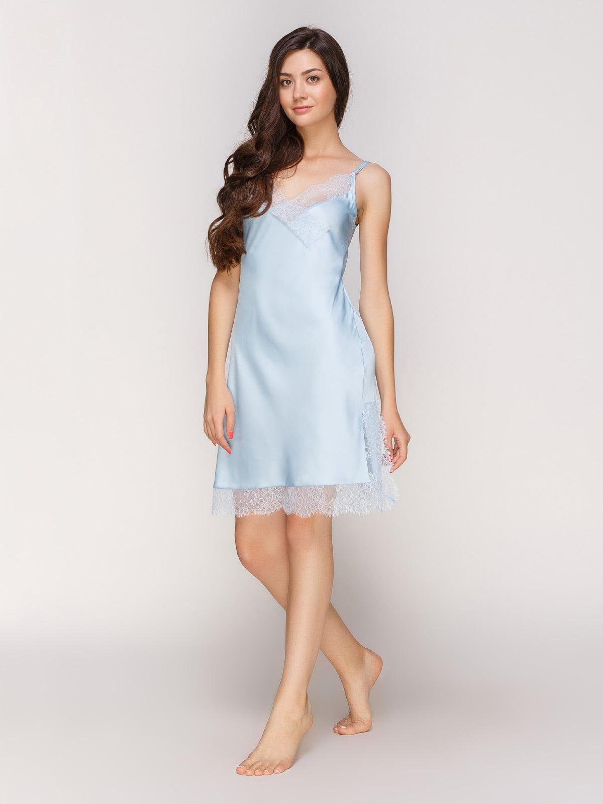 Рубашка ночная голубая | 4519411