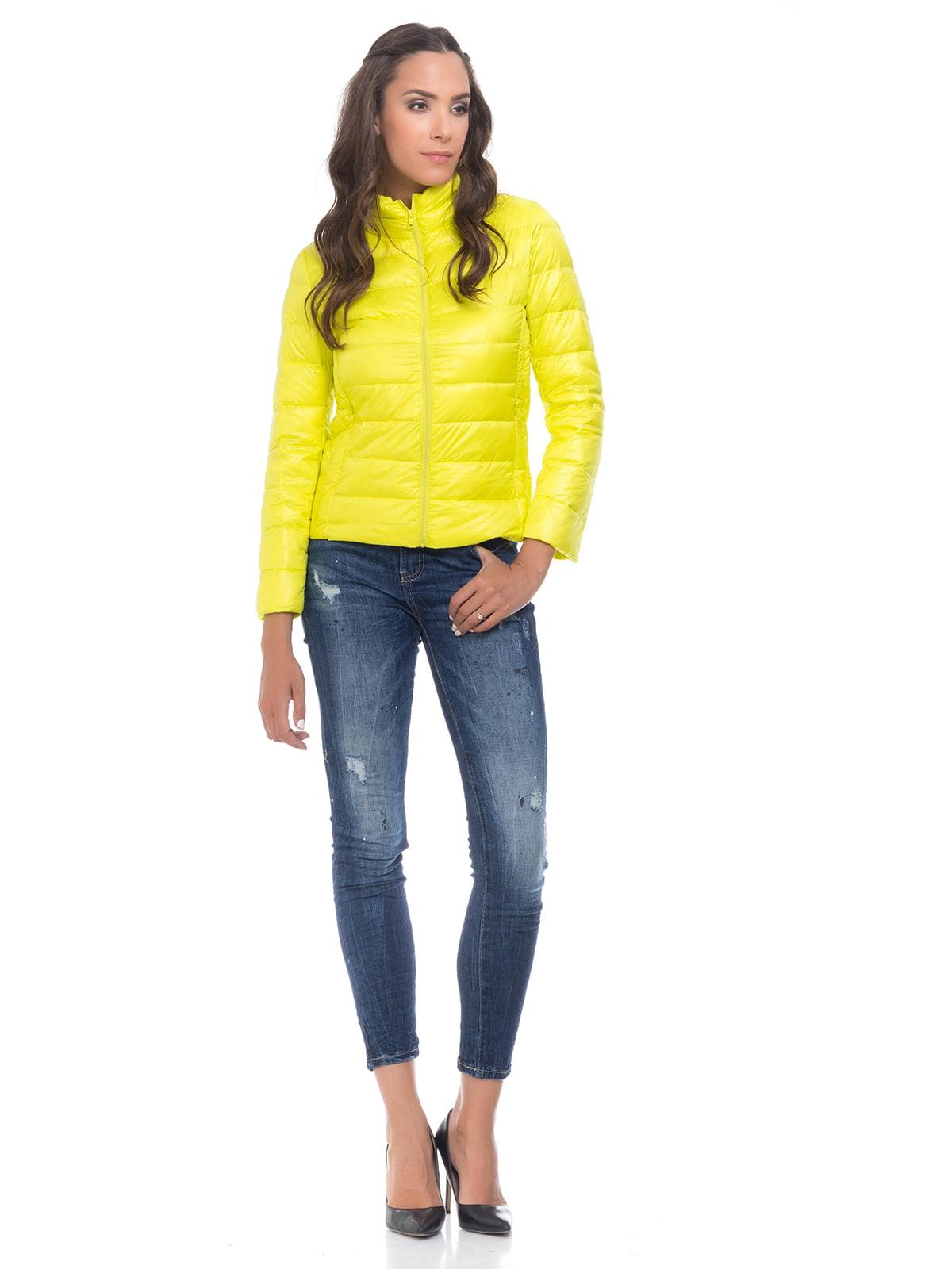Куртка лимонного цвета   4525915   фото 3