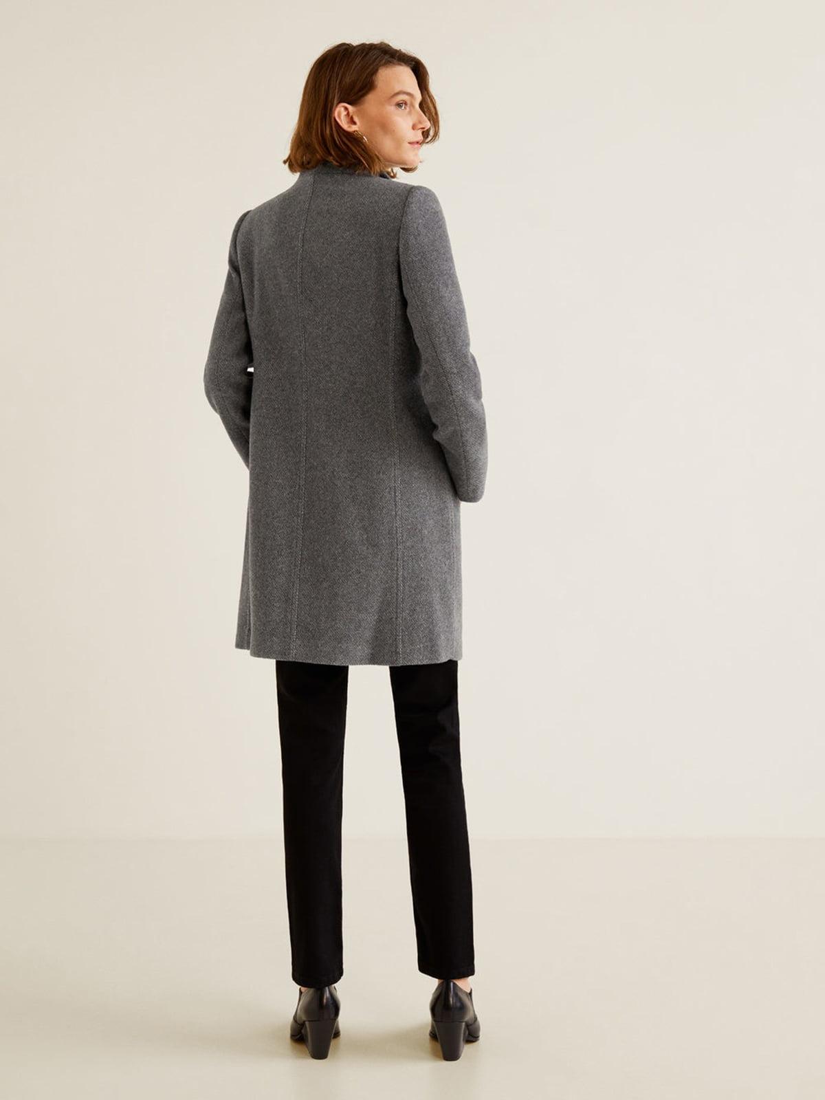 Пальто серое | 4440584 | фото 5