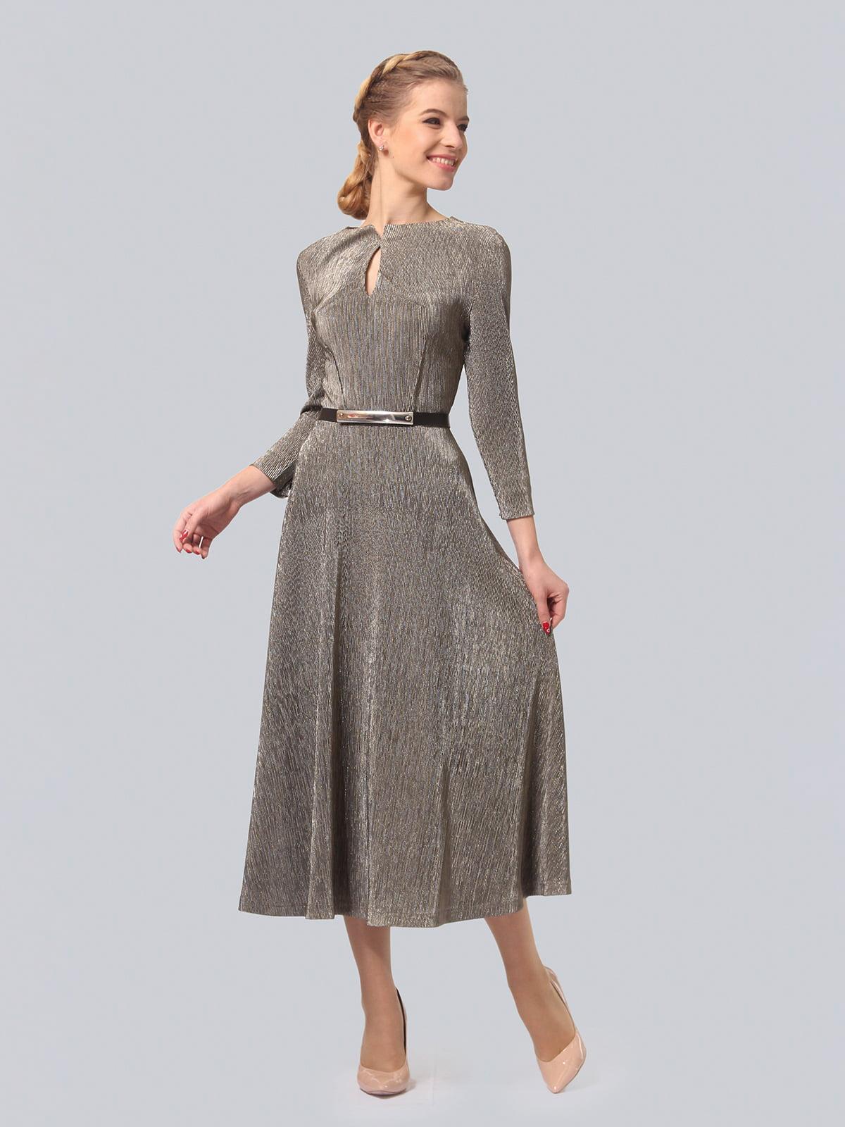 Платье серебристого цвета | 4529164 | фото 2