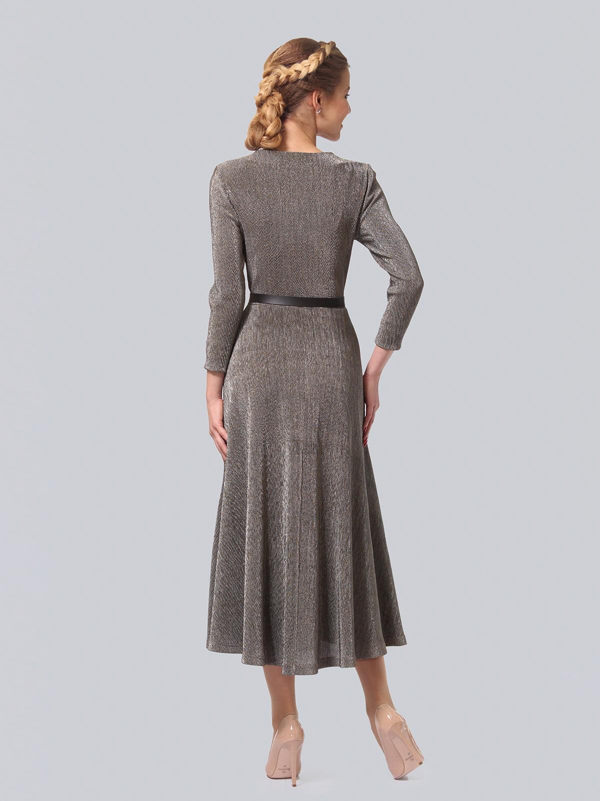 Платье серебристого цвета | 4529164 | фото 3