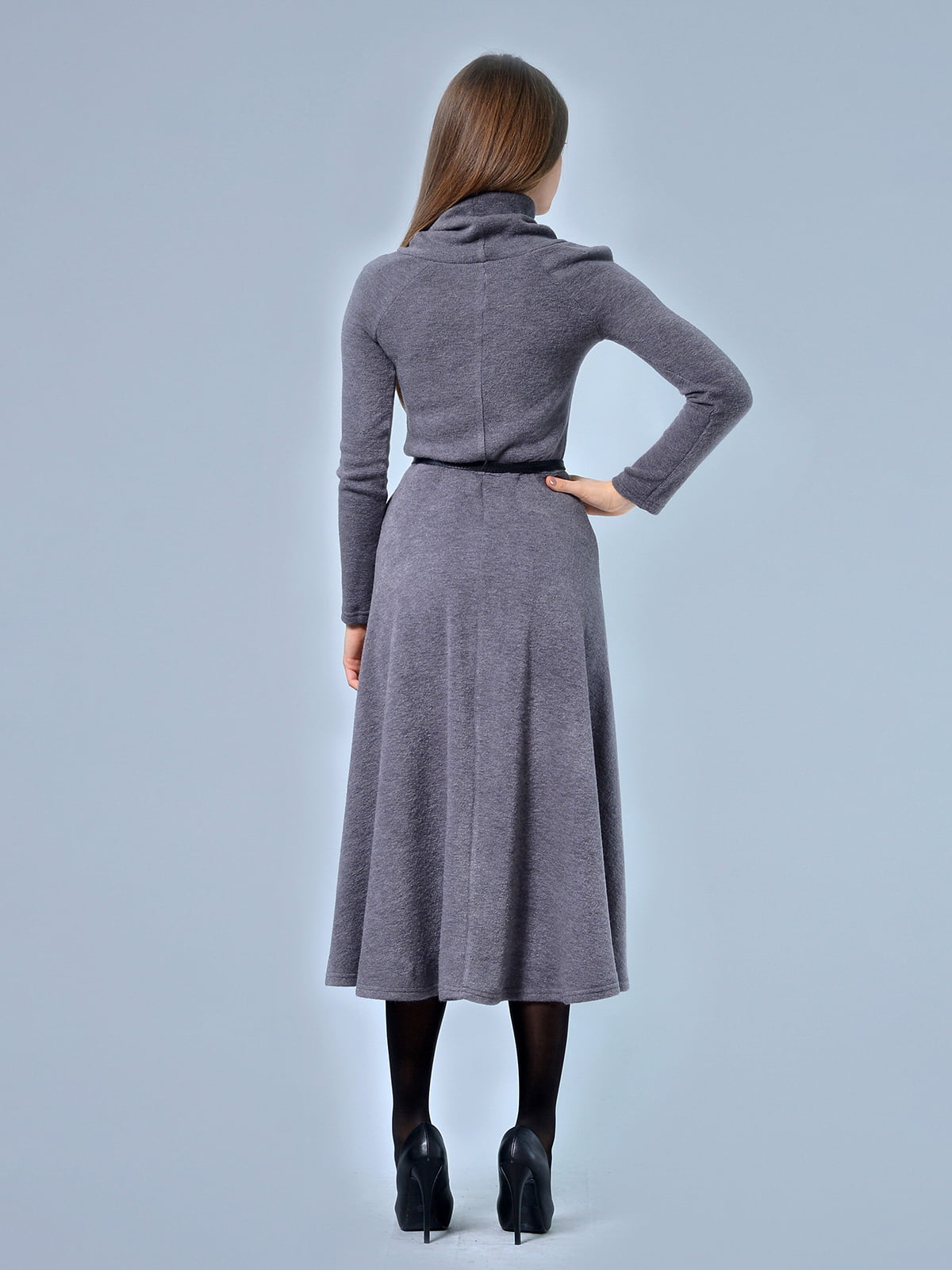 Платье серое | 4529190 | фото 3
