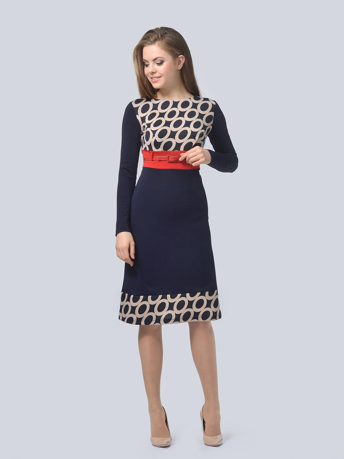 Платье синее в принт   4529206