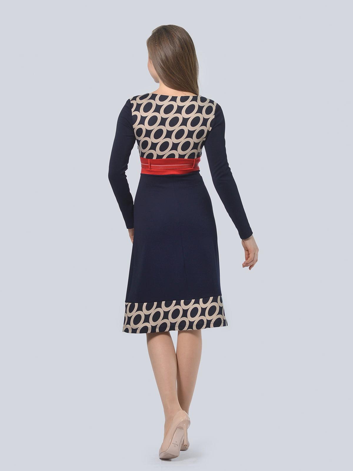 Платье синее в принт   4529206   фото 2