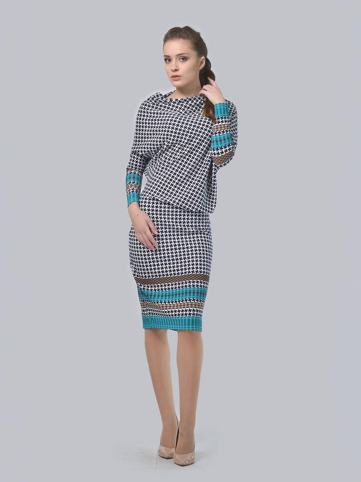 Платье в гусиную лапку | 4529227