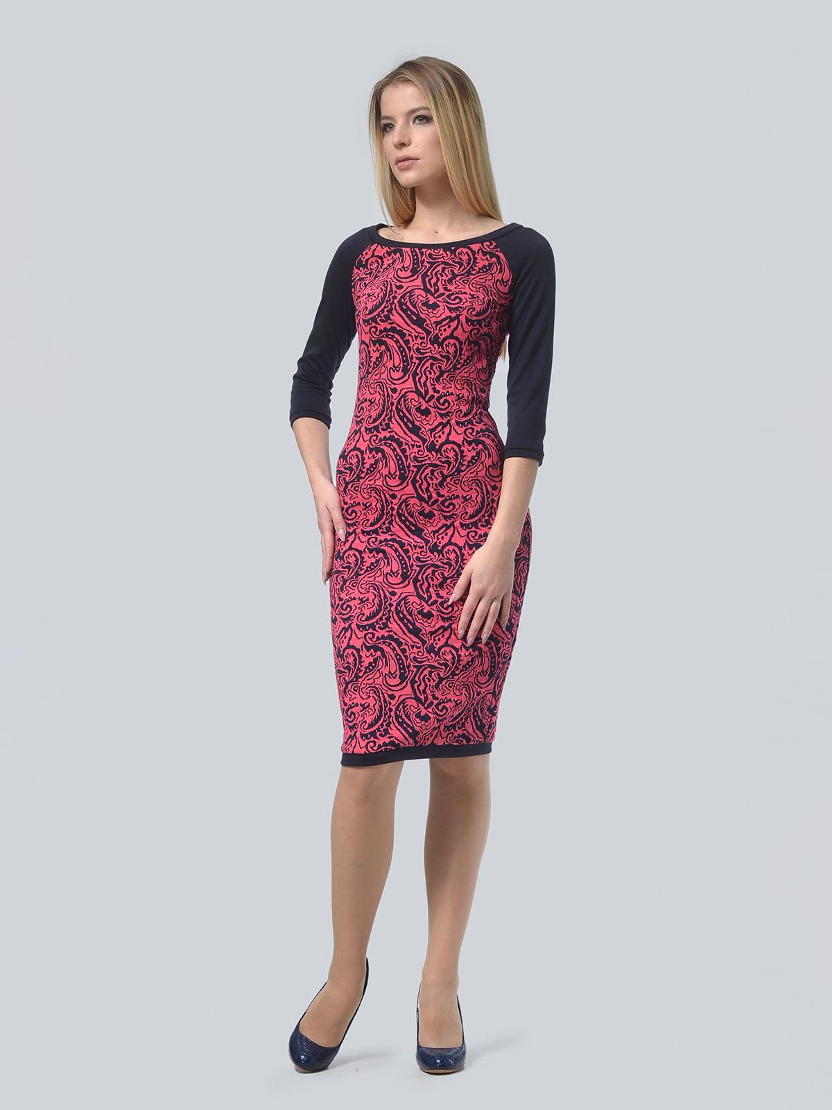 Платье красное в принт | 4529264
