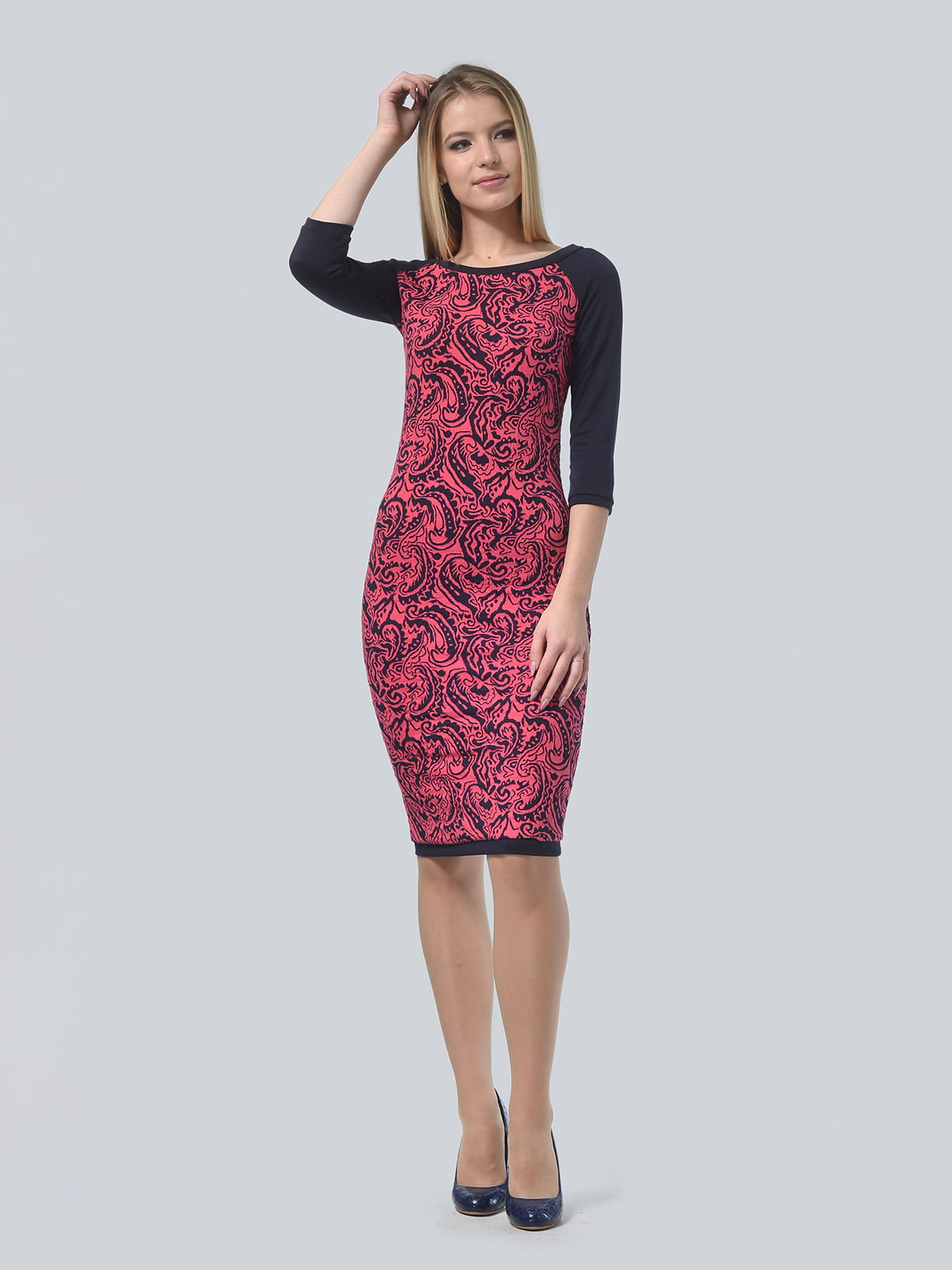 Платье красное в принт | 4529264 | фото 2