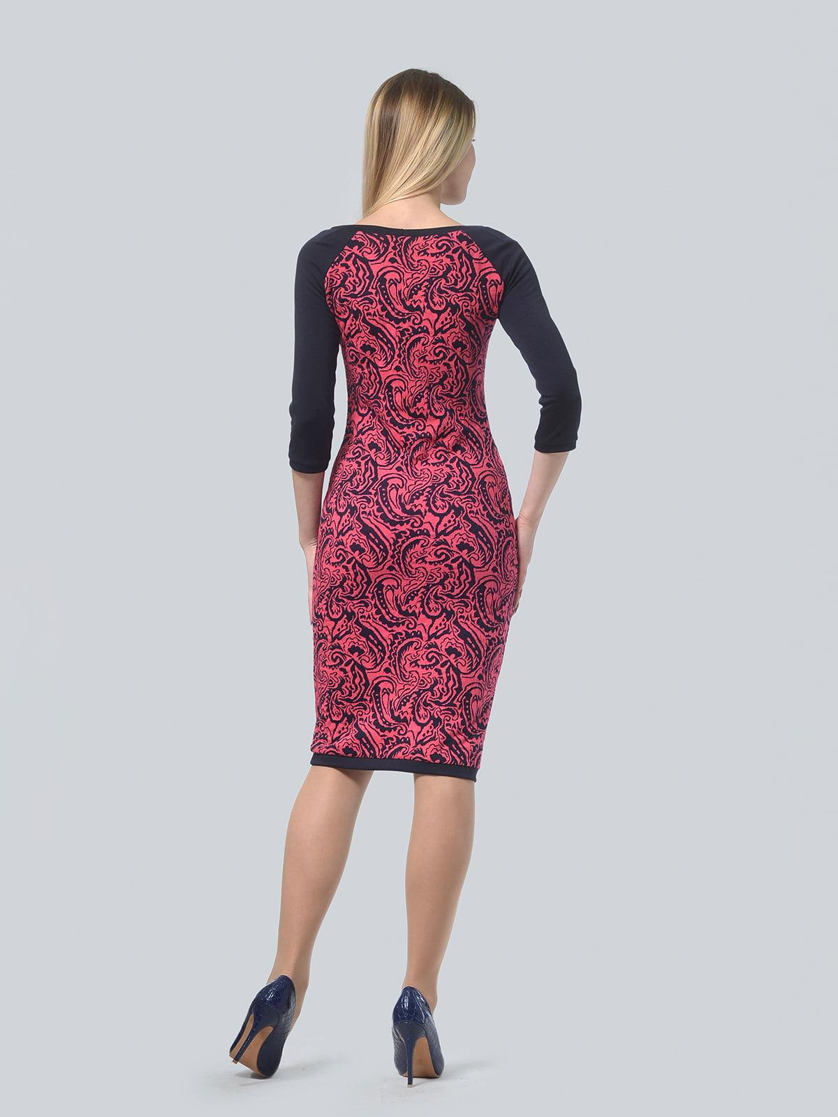 Платье красное в принт | 4529264 | фото 3