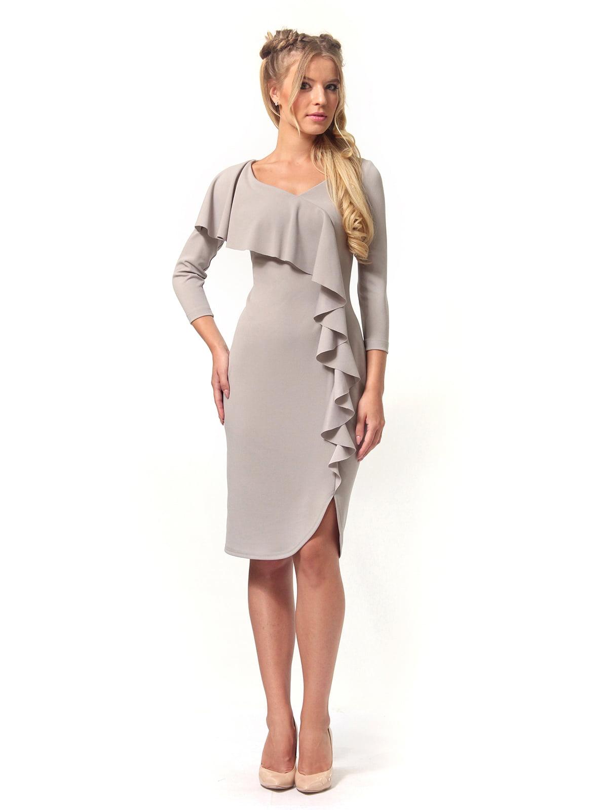 Платье серое | 4529340 | фото 2