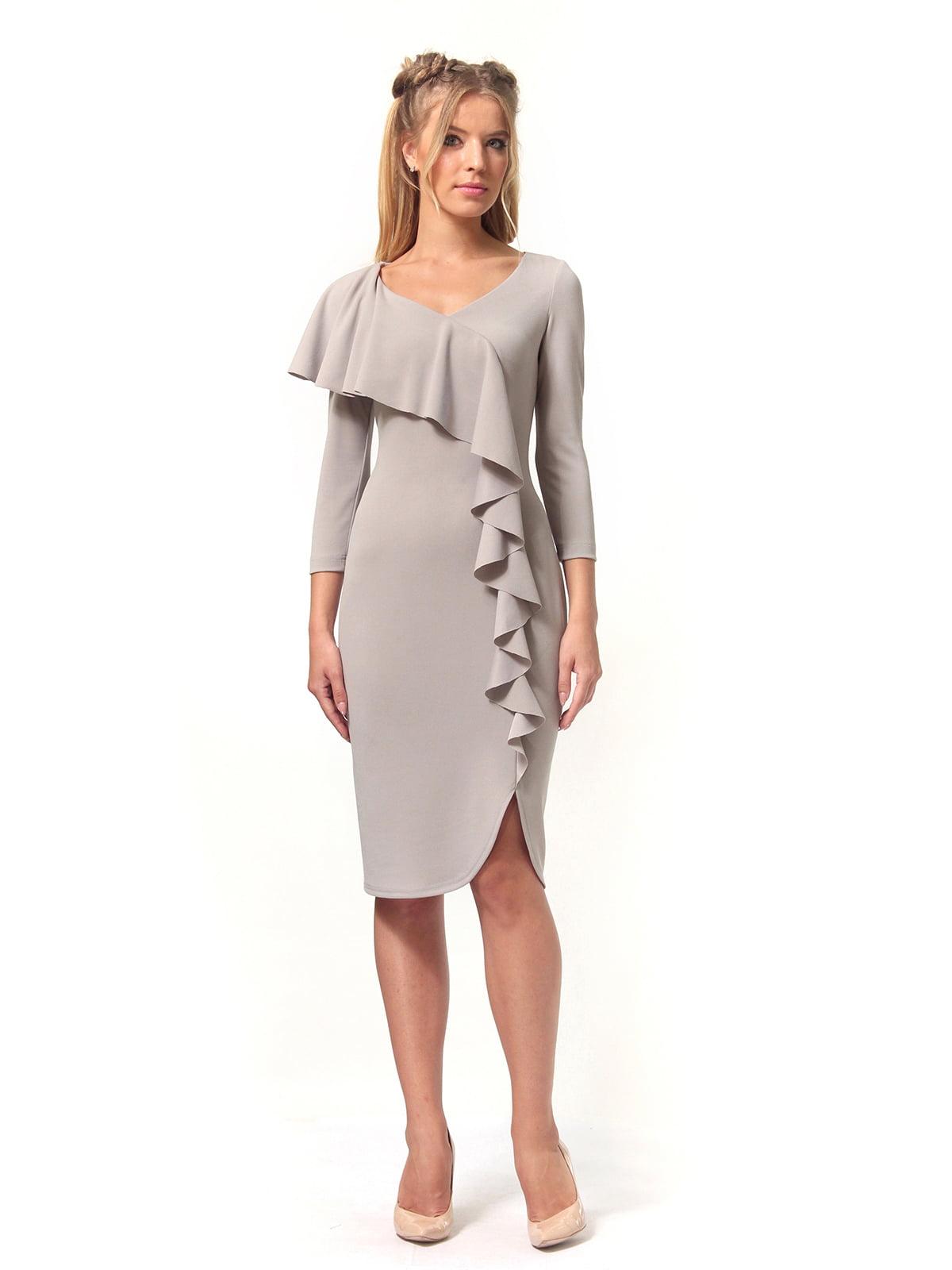 Платье серое | 4529340 | фото 4