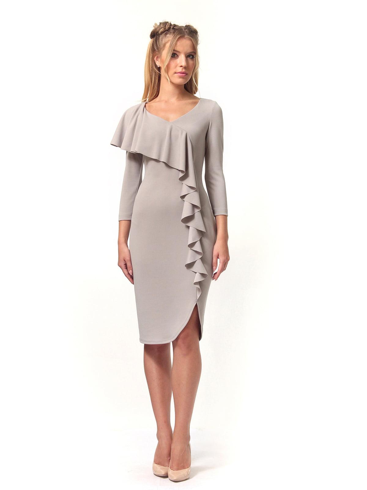 Платье серое | 4529340 | фото 5