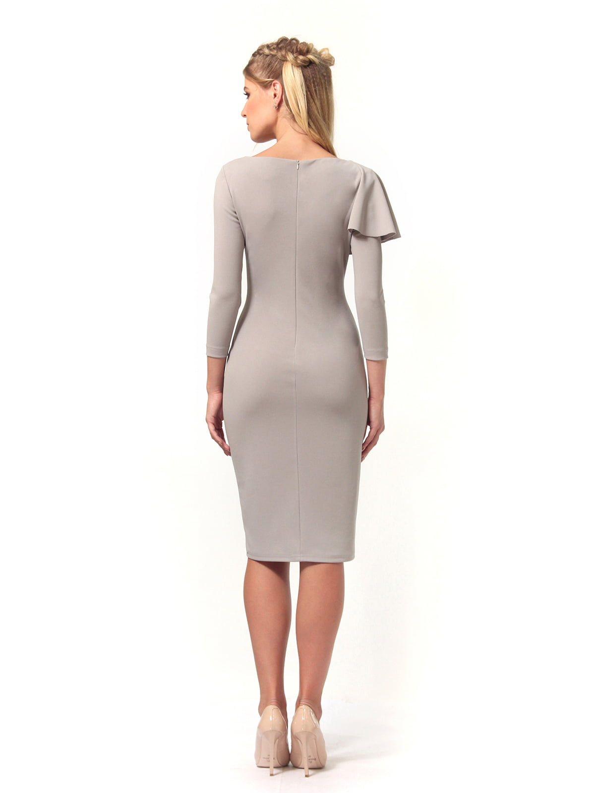 Платье серое | 4529340 | фото 6