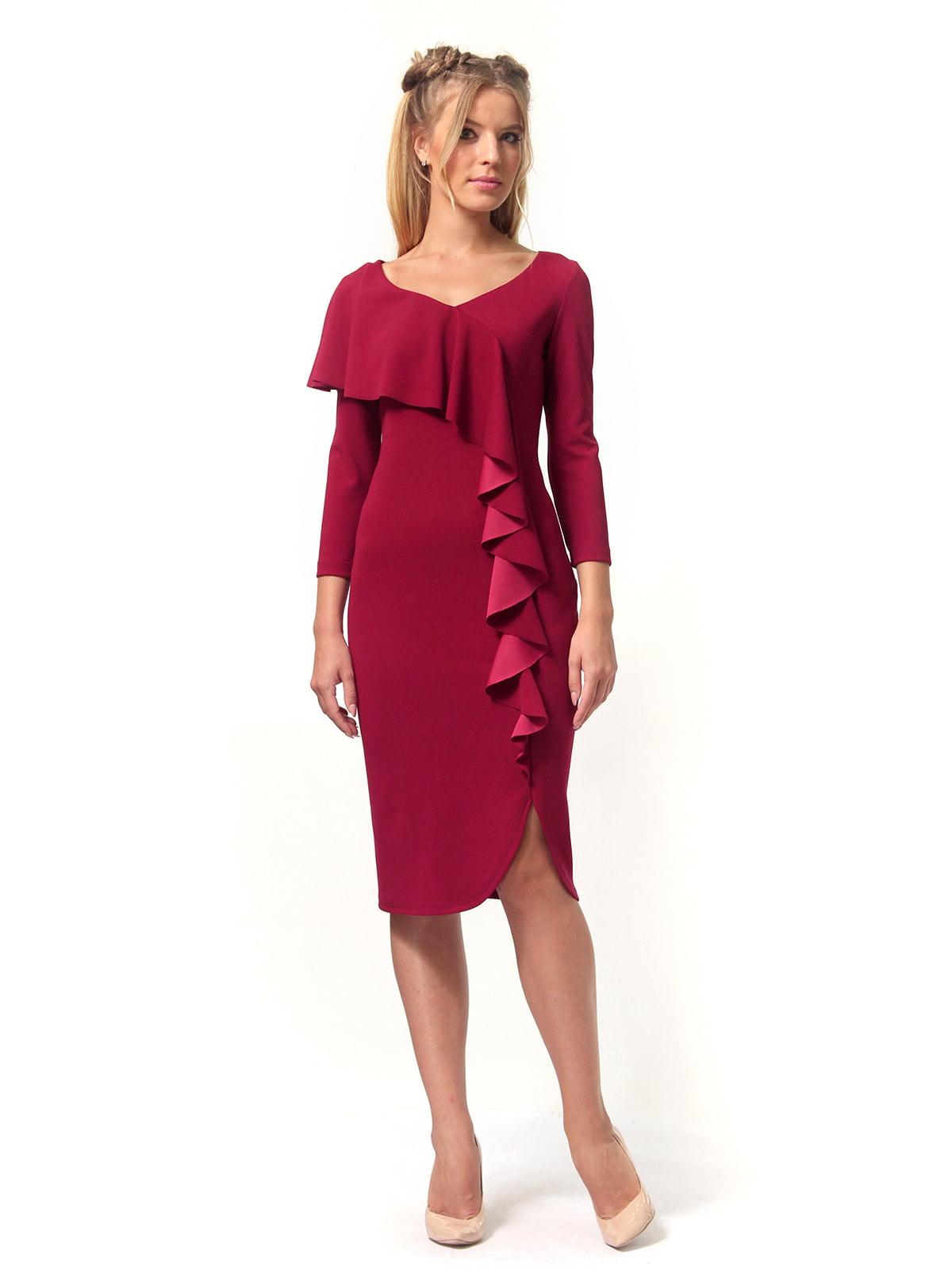 Сукня бордова | 4529341