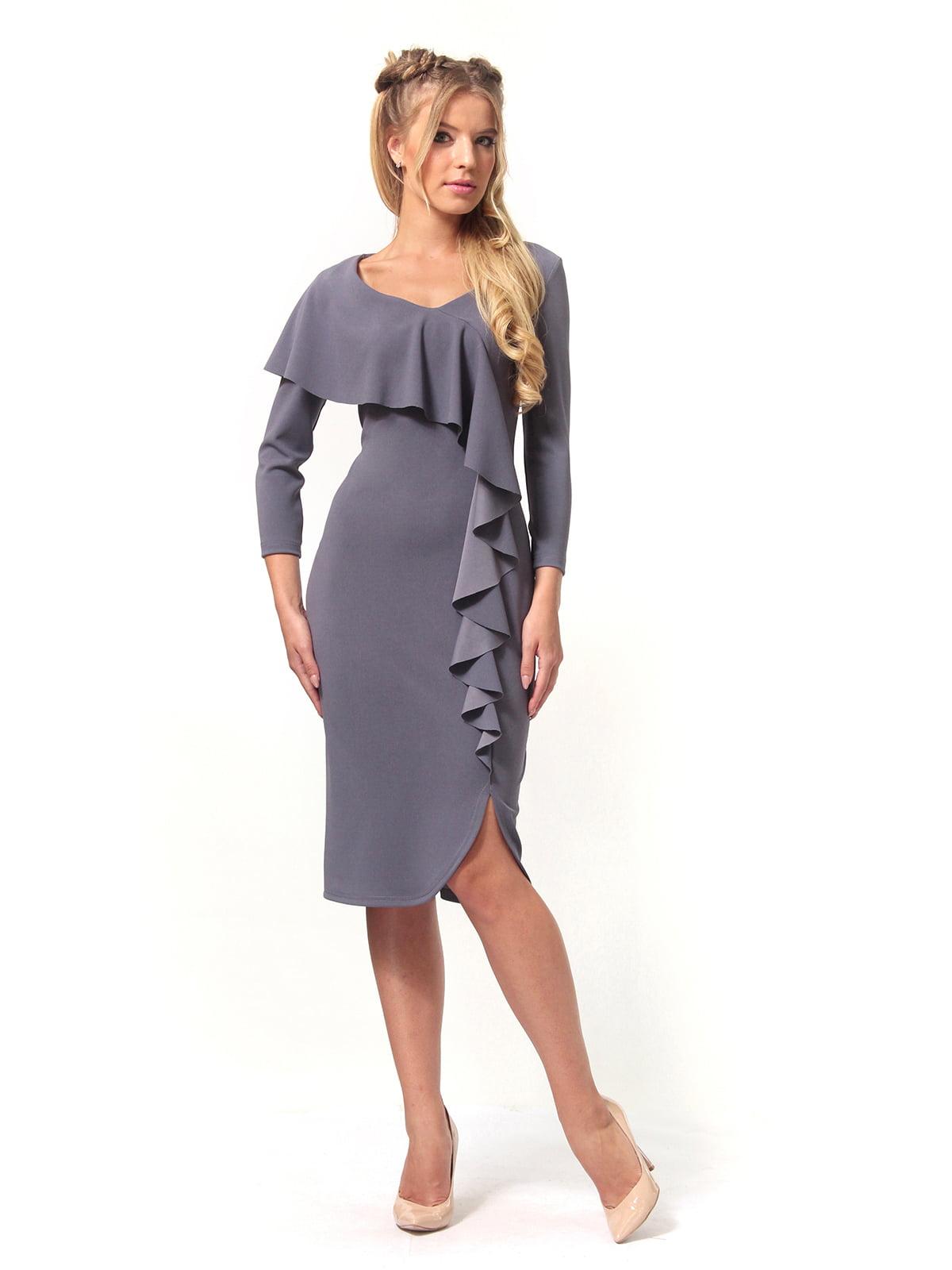 Платье графитового цвета   4529344