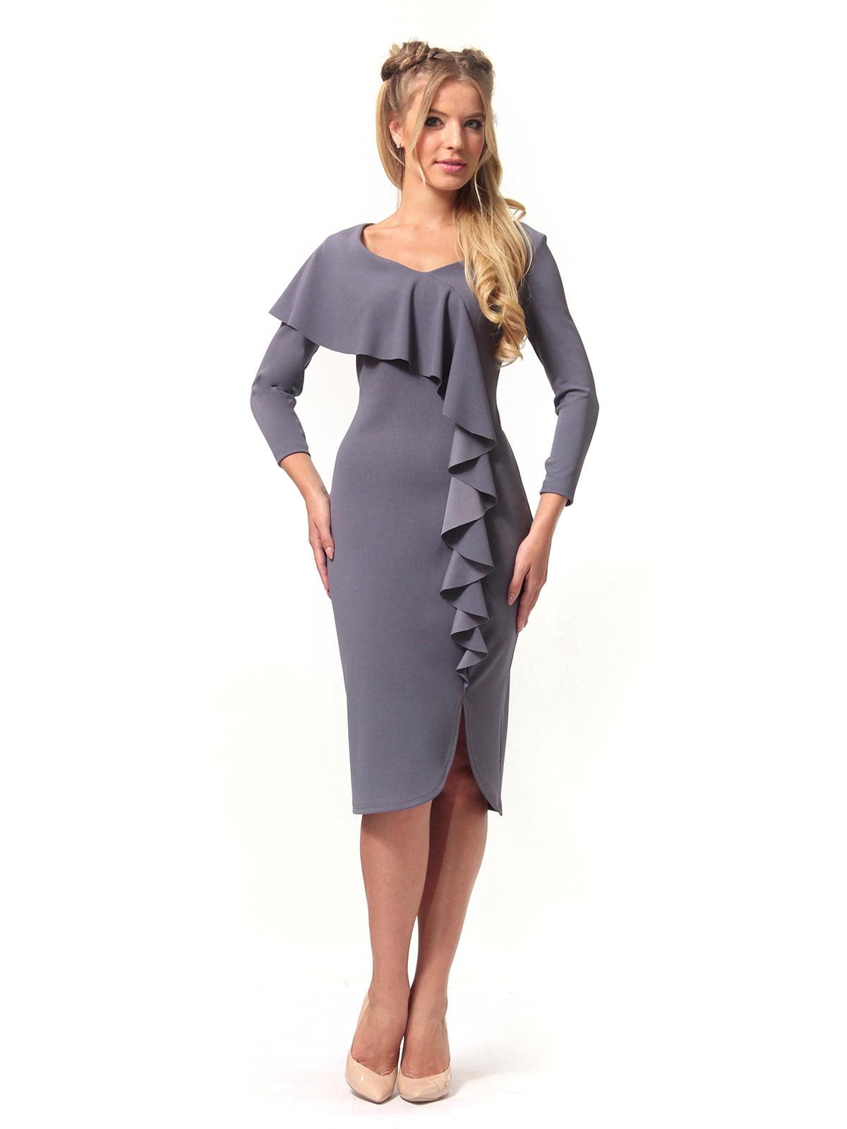 Платье графитового цвета   4529344   фото 2