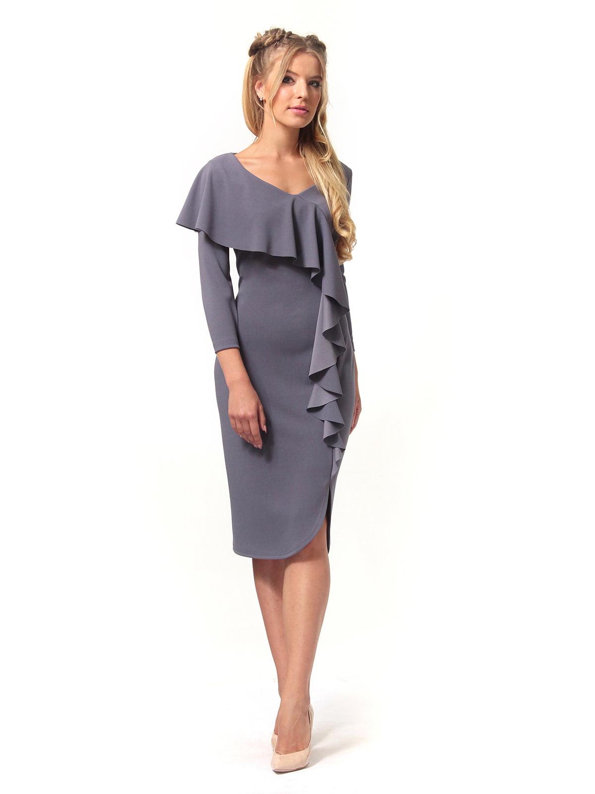 Платье графитового цвета   4529344   фото 3