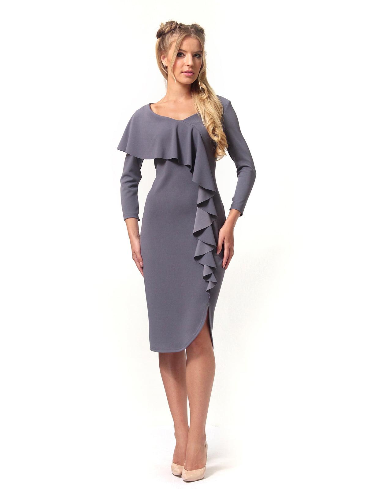Платье графитового цвета   4529344   фото 4