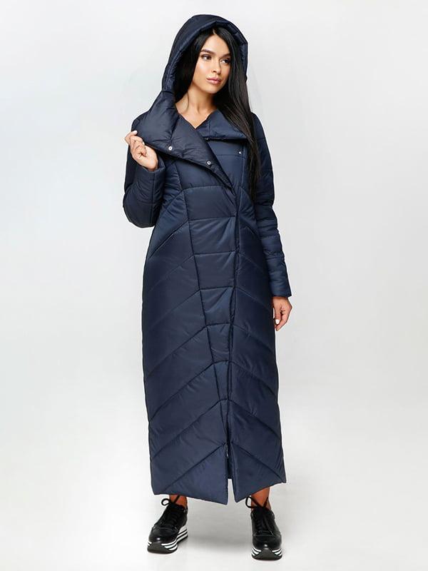 Пальто темно-синее | 4531071 | фото 2