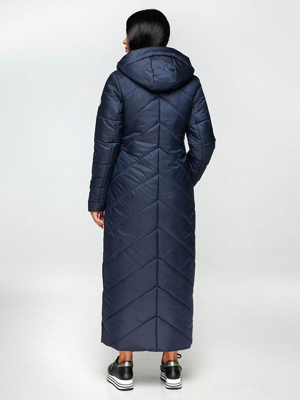 Пальто темно-синее | 4531071 | фото 3