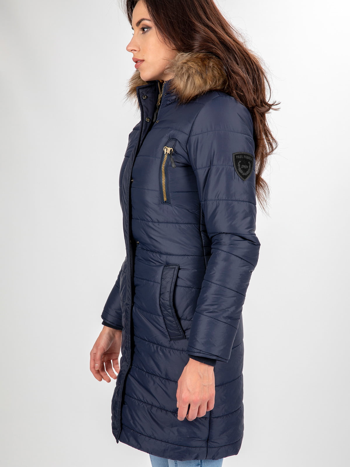 Пальто темно-синее | 3797411 | фото 6