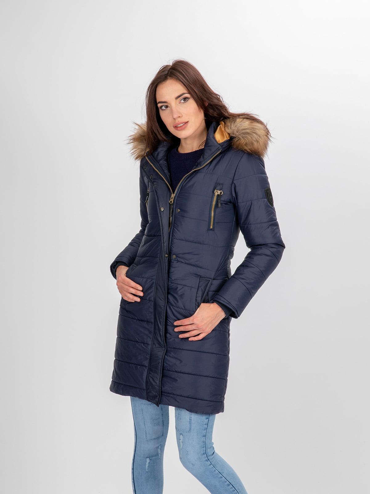 Пальто темно-синее | 3797411 | фото 9