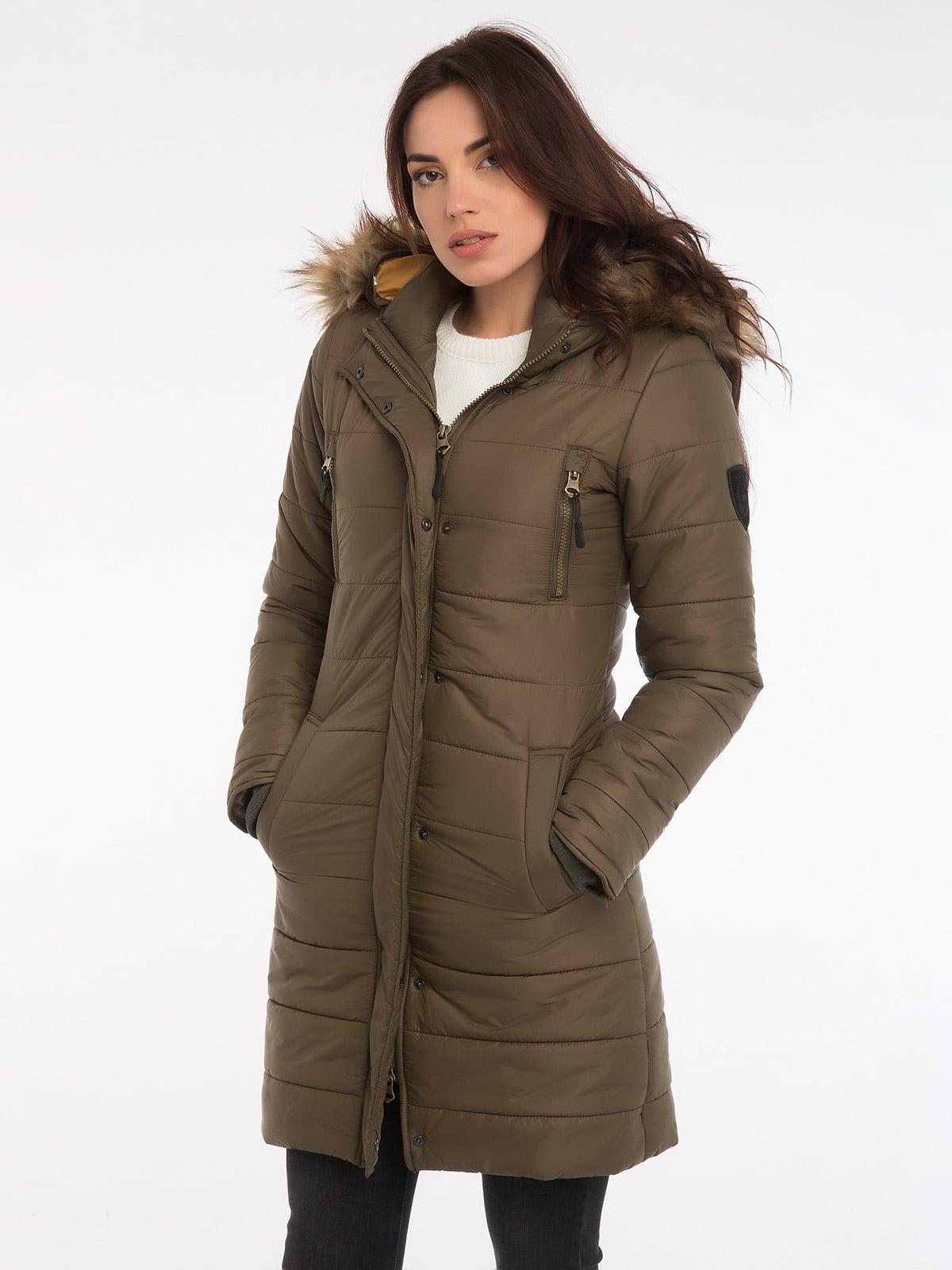 Пальто цвета хаки | 3797413 | фото 6