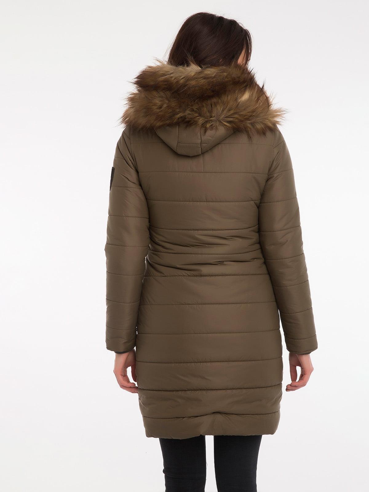 Пальто цвета хаки | 3797413 | фото 7