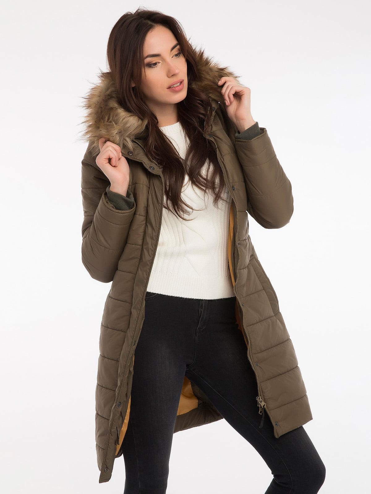 Пальто цвета хаки | 3797413 | фото 9