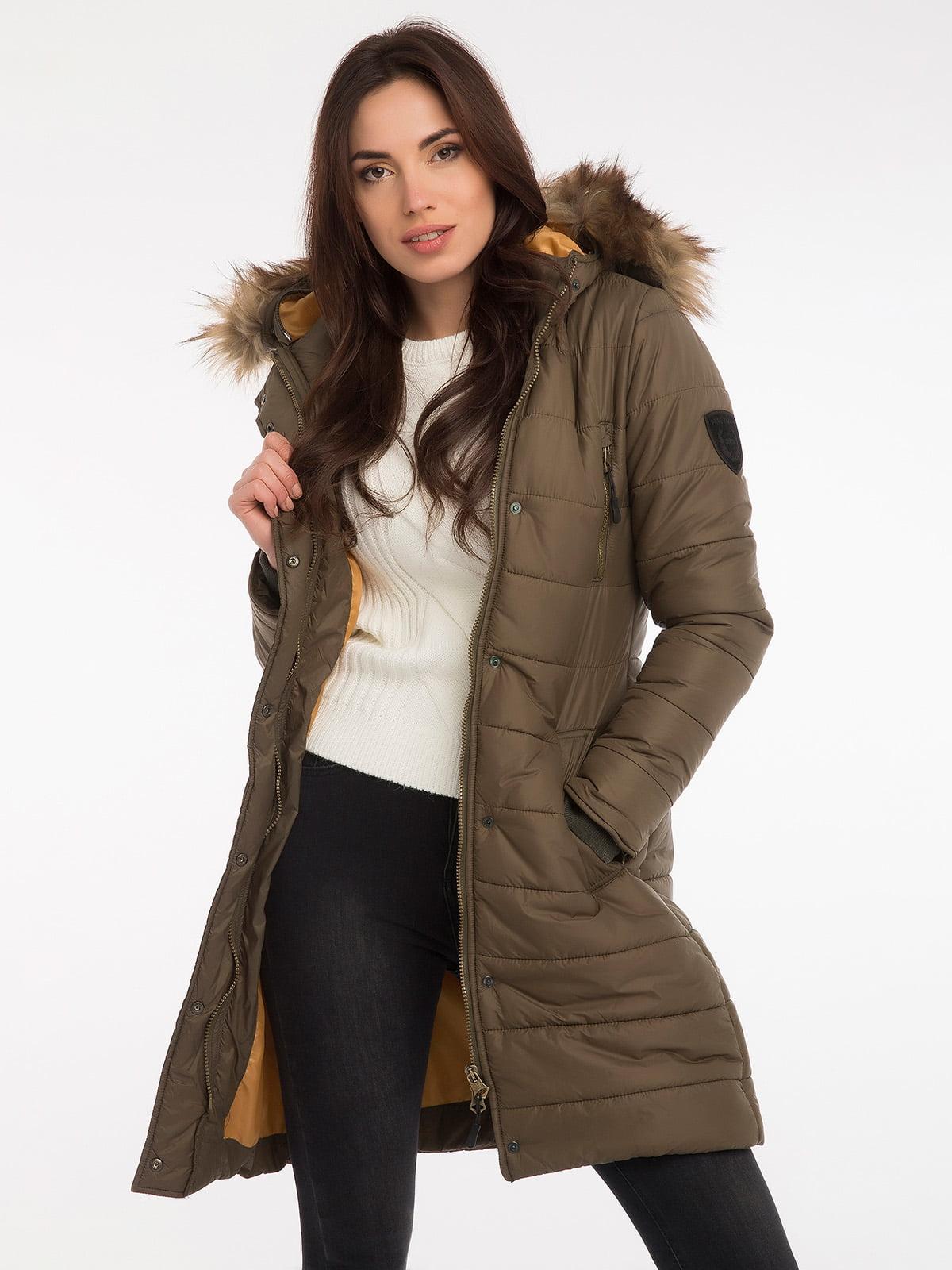 Пальто цвета хаки | 3797413 | фото 10