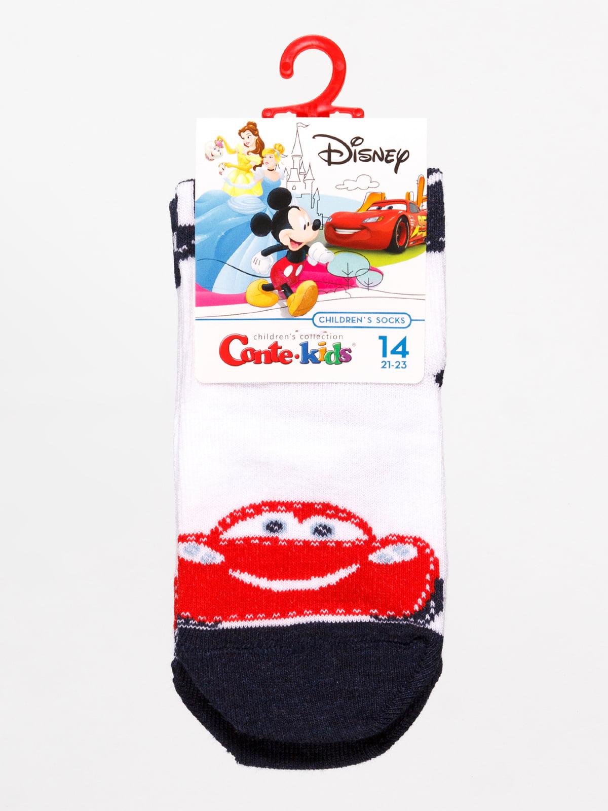 Шкарпетки білі «Тачки» | 4366833