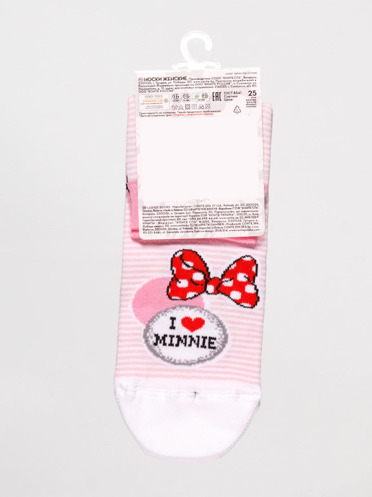 Шкарпетки рожеві в смужку «Мінні Маус»   4366529   фото 2