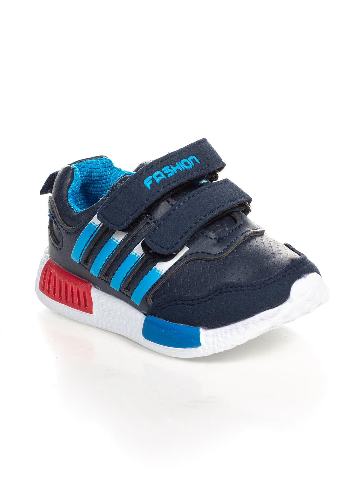 Кроссовки сине-голубые | 4409395
