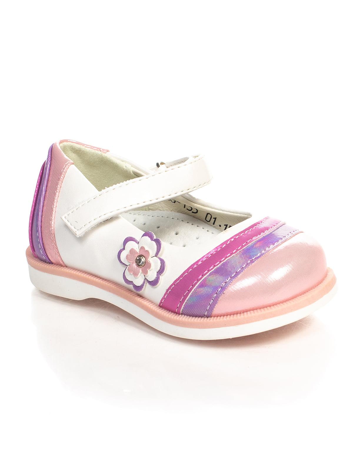 Туфли бело-розовые | 4407422