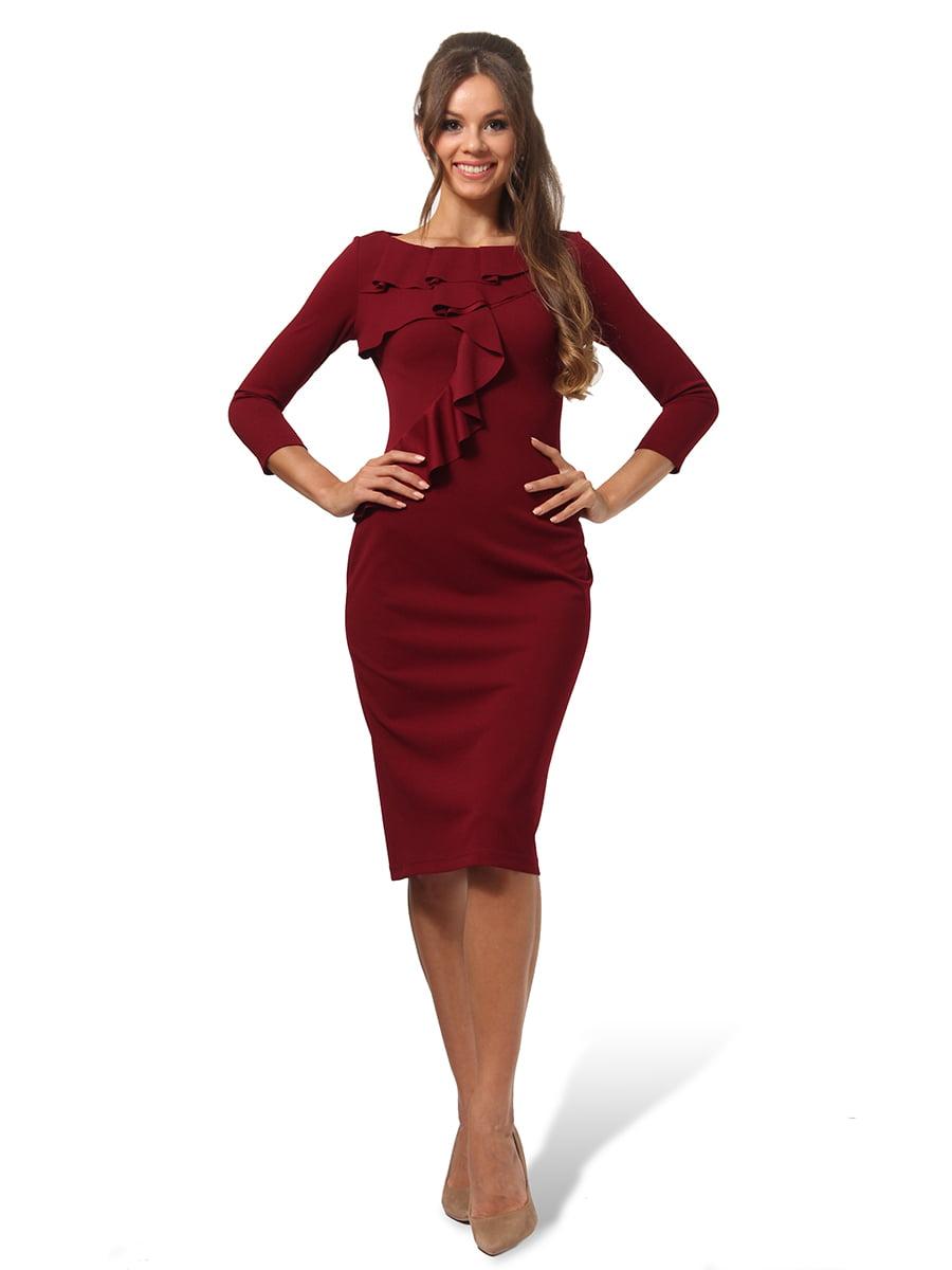 Платье бордовое | 4535705
