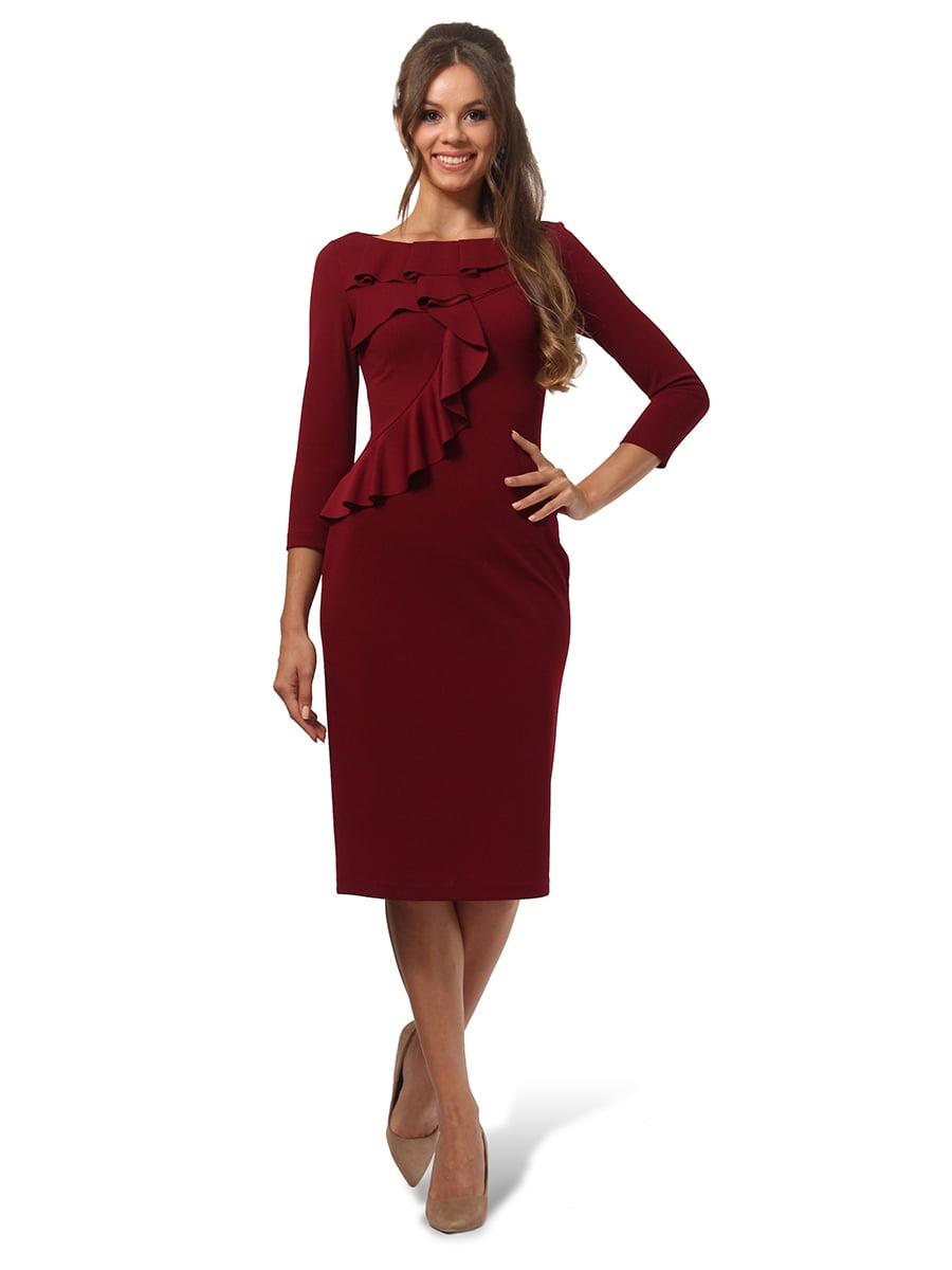 Платье бордовое | 4535705 | фото 2