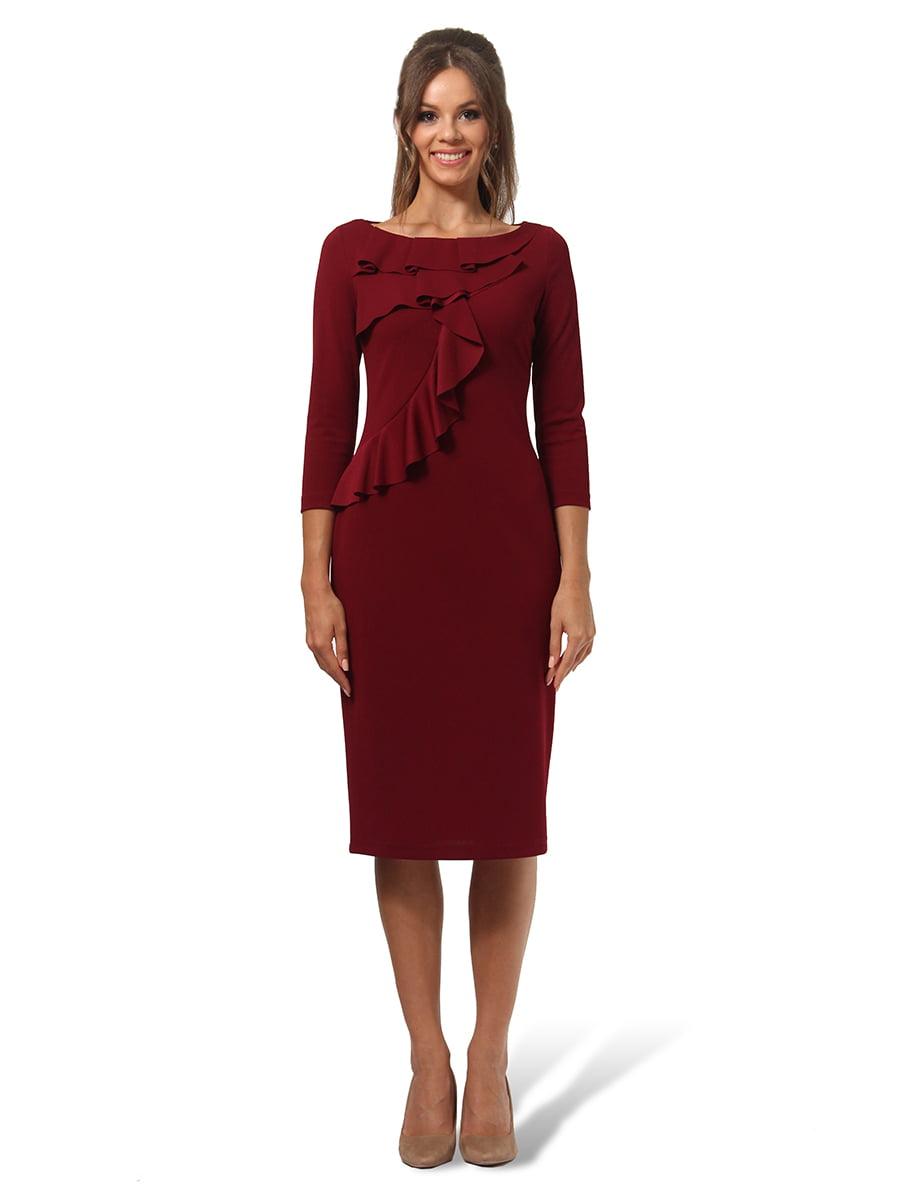 Платье бордовое | 4535705 | фото 3