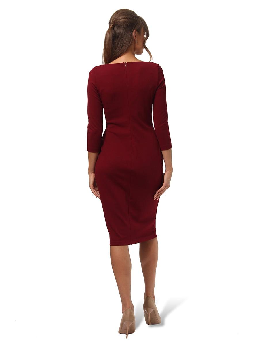 Платье бордовое | 4535705 | фото 4