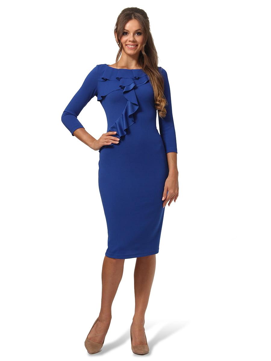 Платье цвета электрик | 4535709