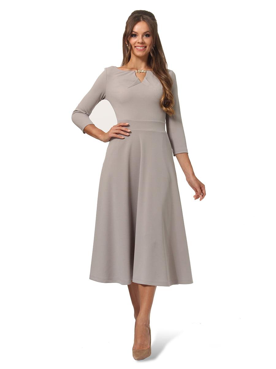 Платье серое | 4535717