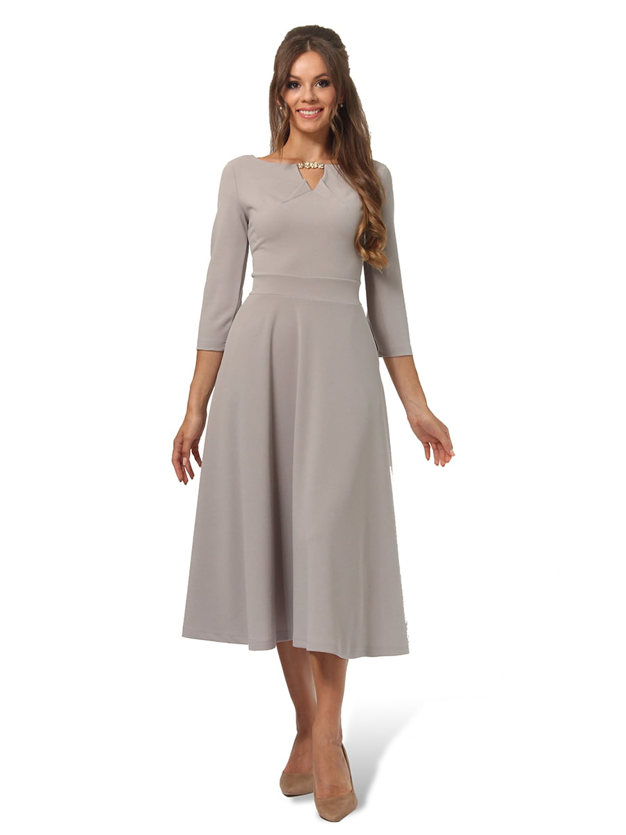 Платье серое | 4535717 | фото 2