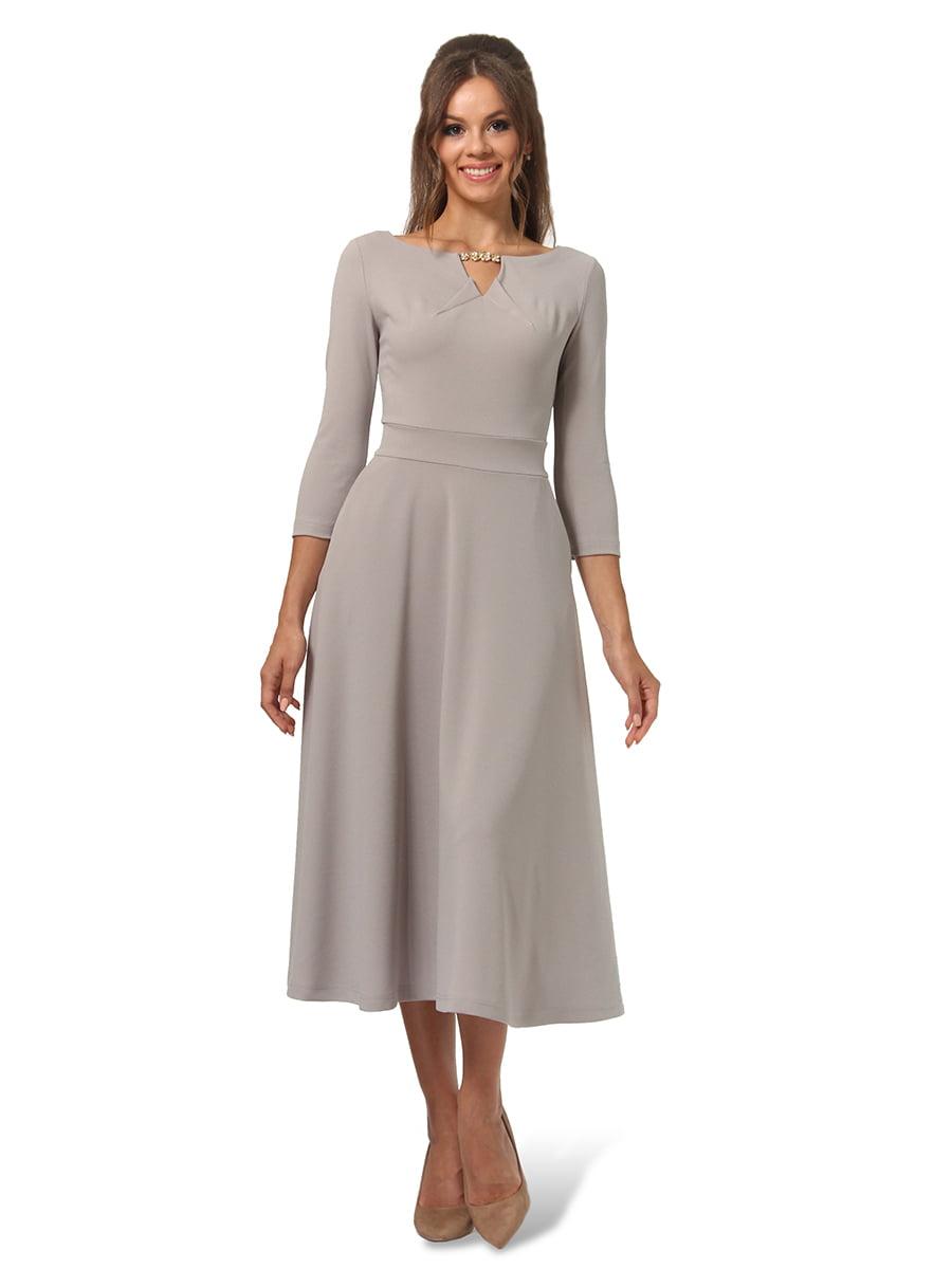 Платье серое | 4535717 | фото 3
