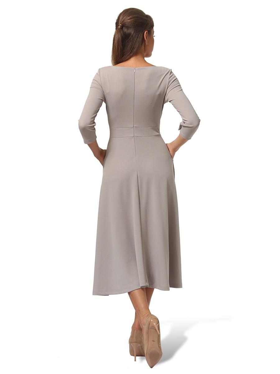 Платье серое | 4535717 | фото 4