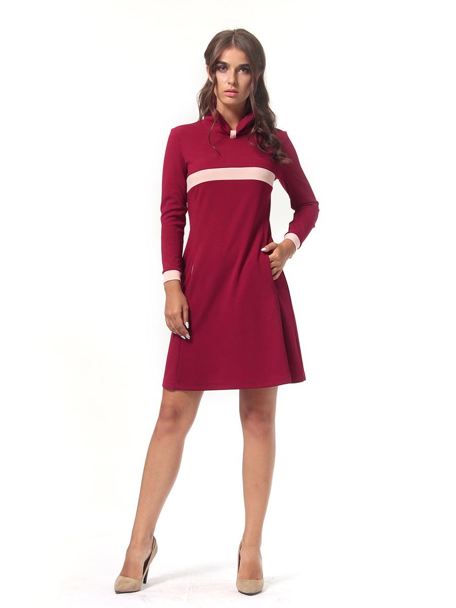 Платье бордовое   4518878