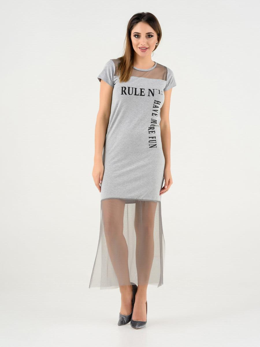 Сукня сіра | 4272118