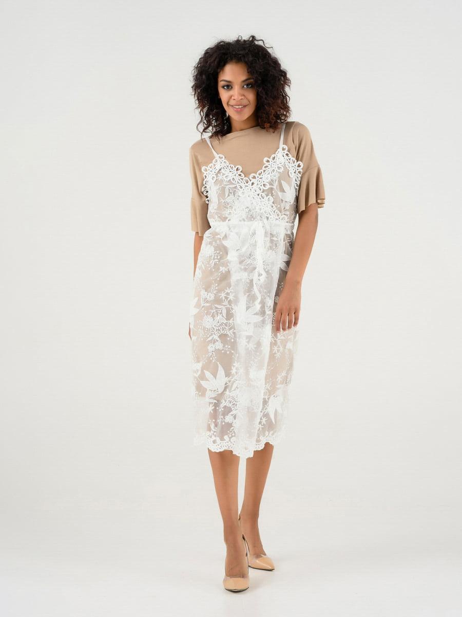 Платье бежевое   4272122