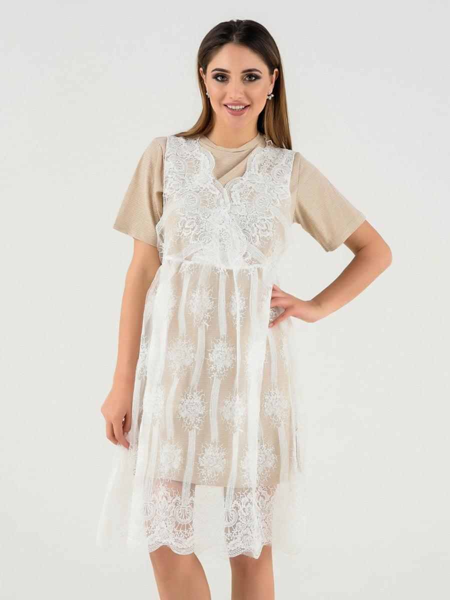 Платье бежевое   4272126