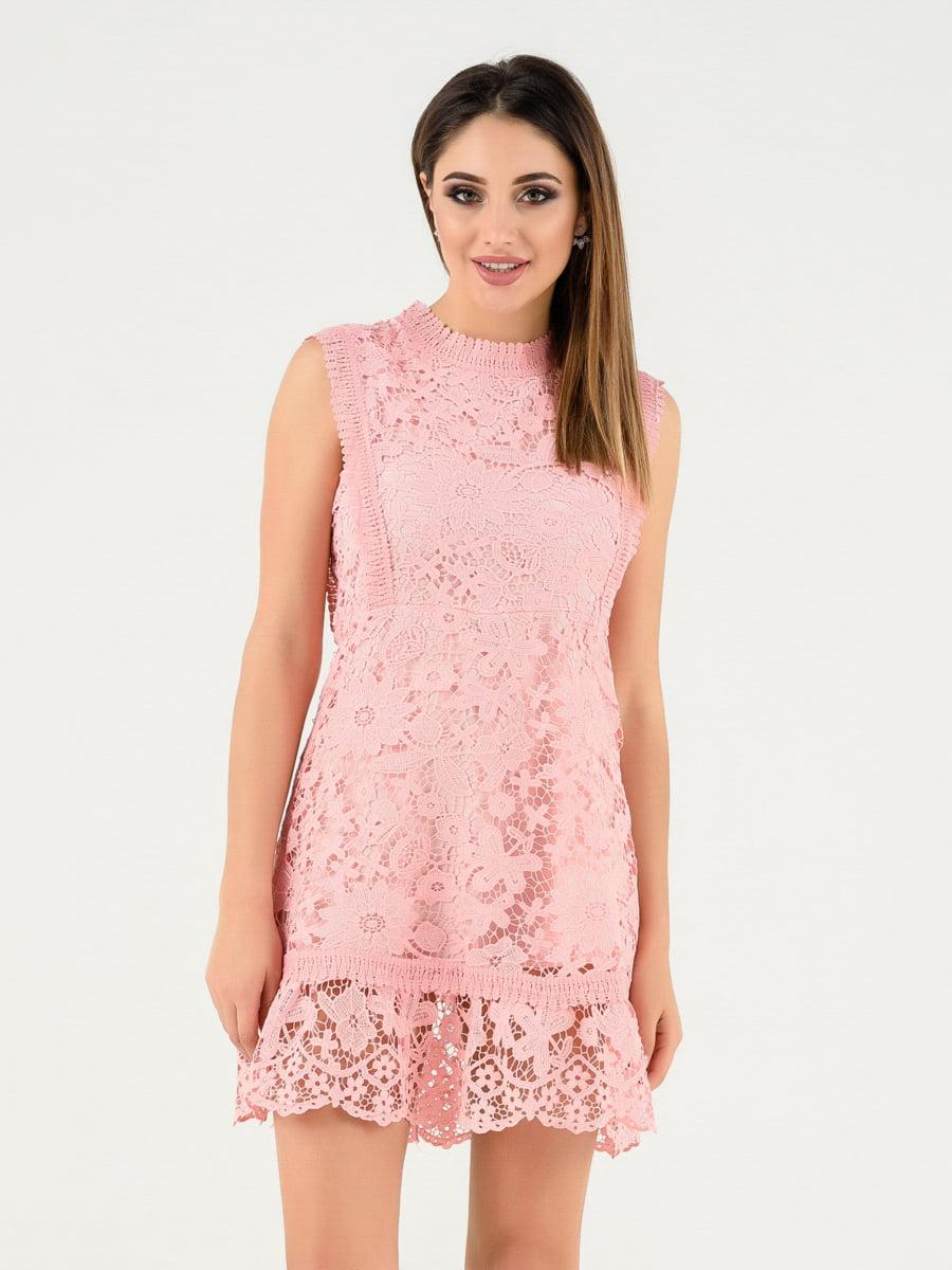 Платье розовое | 4272130