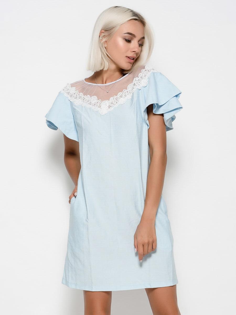 Платье голубое | 4533951
