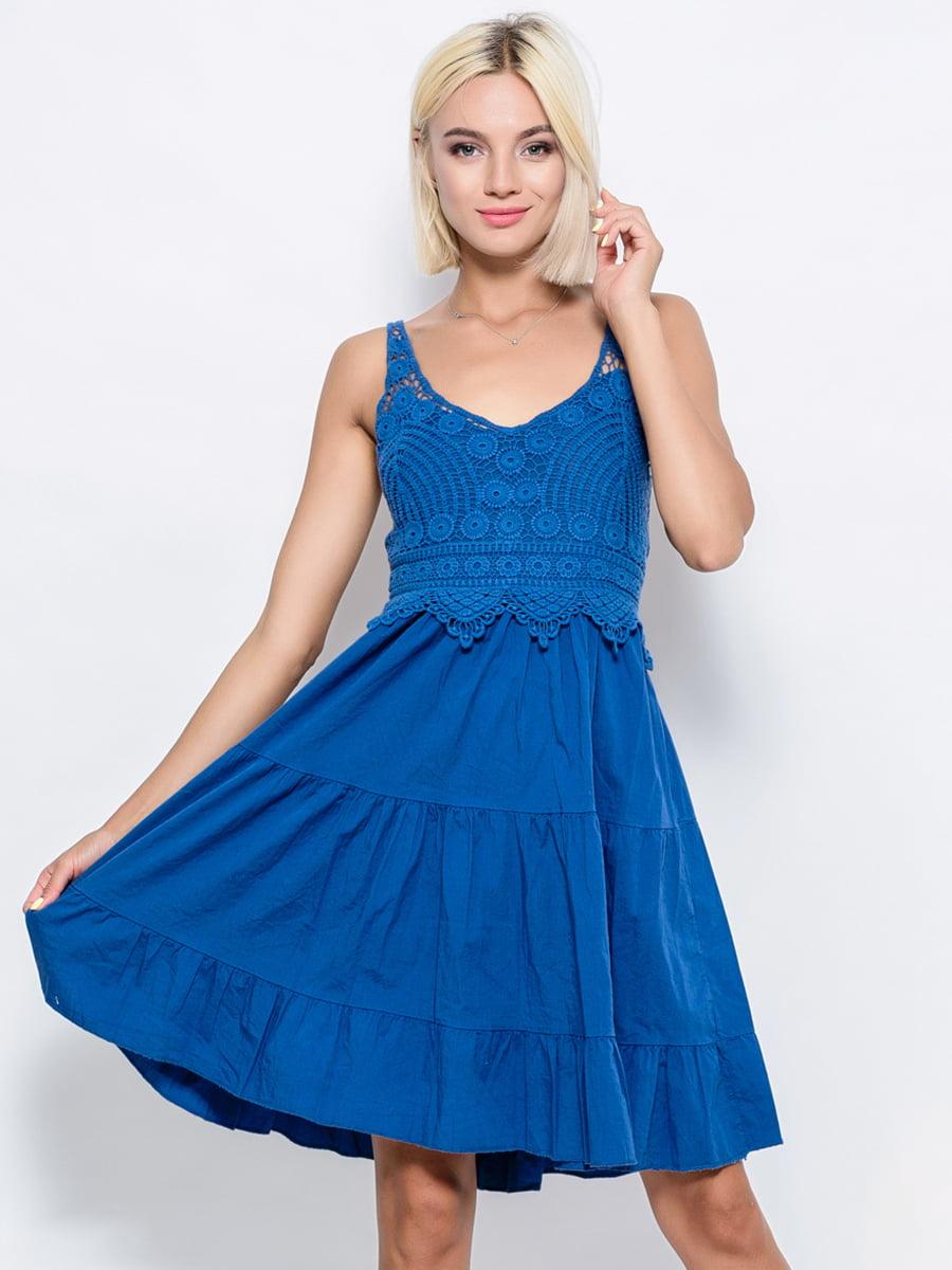 Платье синее | 4534076