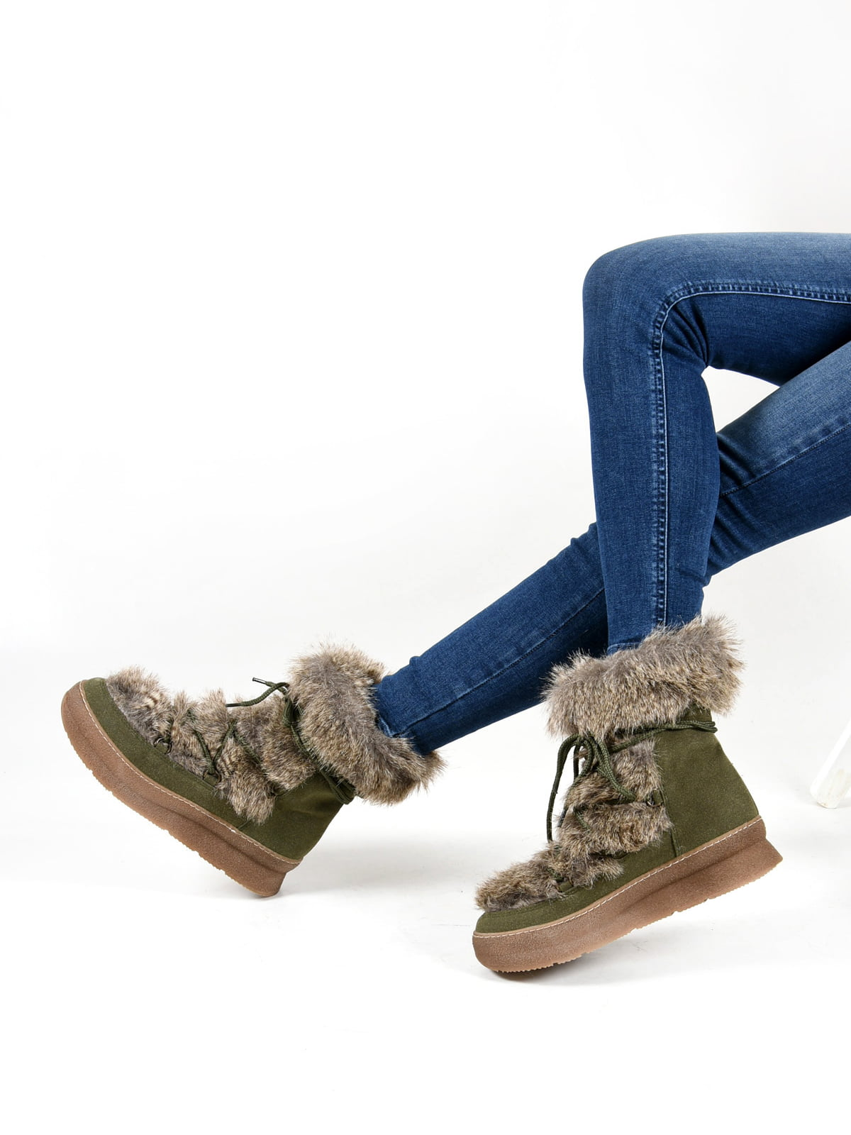 Ботинки цвета хаки   4537421